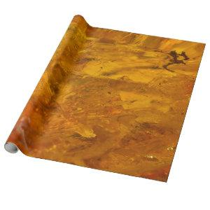 Amber stone close up wrapping paper