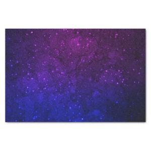 Among Stars in the Blue and Purple Galaxy Tissue Paper