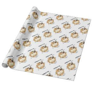 ANATOMY OF A PUG WRAPPING PAPER