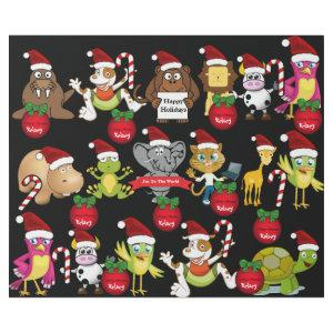 Animals Christmas w/Personalized Name Wrapping Paper
