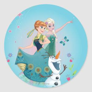 Anna and Elsa | Celebrate Sisterhood Classic Round Sticker