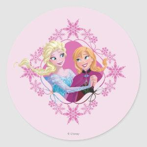 Anna and Elsa | Family Forever Classic Round Sticker