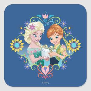 Anna and Elsa | Gift for Sister Square Sticker