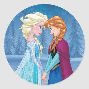 Anna and Elsa | Together Forever Classic Round Sticker