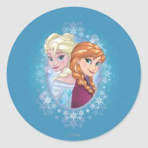 Anna and Elsa | Winter Magic Classic Round Sticker