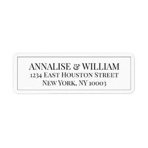 Annalise Elegant Modern Wedding Return Address Label
