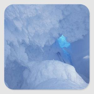 Antarctica, Ross Island, Cape Evans, Snow cave Square Sticker