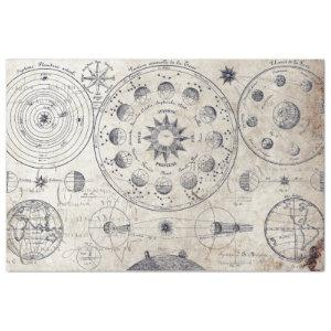 ANTIQUE ASTRONOMY AND PLANETARY CHART TISSUE PAPER