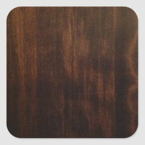 Antique Dark Wood Design Square Sticker