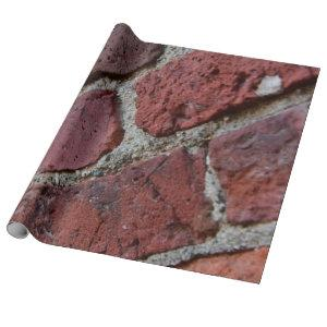 Antique Deep Brick Red Wrapping Paper