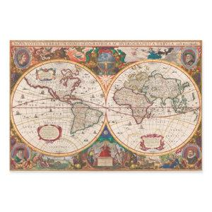Antique Map Heavy Weight Decoupage Wrapping Paper