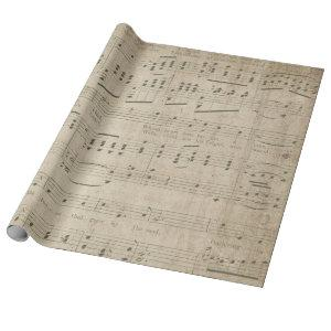 Antique Music Sheet Style 1 Wrapping Paper Roll