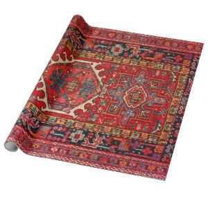 Antique Oriental Turkish Persian Carpet Wrapping Paper