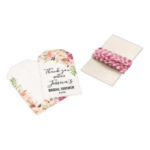 Antique Rose Bridal Shower Favor Tags