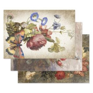 ANTIQUE STILL LIFE ART HEAVY WEIGHT DECOUPAGE WRAPPING PAPER SHEETS