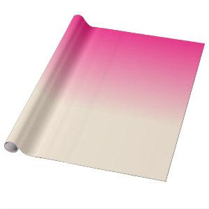 Antique White and Winter Sky Pink Gradient Colors Wrapping Paper