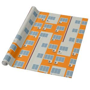 Apartment Building Wrapping Paper