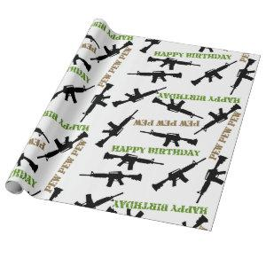 AR-15 Themed Birthday Wrapping Paper