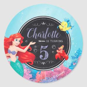 Ariel | The Little Mermaid - Chalkboard Classic Round Sticker