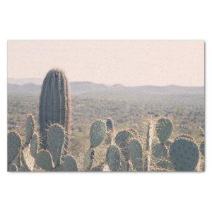 Arizona Cacti  | Desert Boho Landscape Photo Tissue Paper