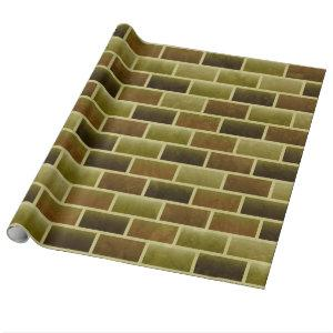 Army Brick Wall Wrapping Paper