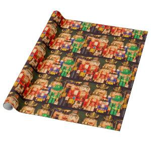 Army of Christmas Nutcrackers Wrapping Paper