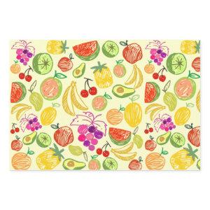 Assorted Fruit Wrapping Paper Sheets