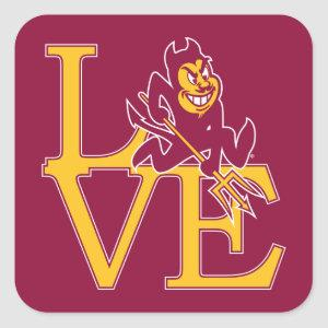 ASU Love Square Sticker