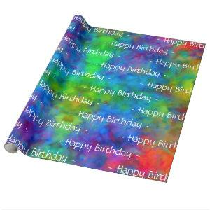 [Atomic Tie-Dye] Rainbow Colors Wrapping Paper