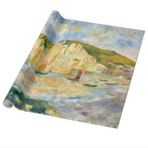 Auguste Renoir Sea and Cliffs Wrapping Paper