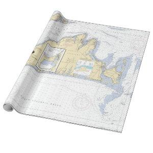 Authentic Nautical Chart Martha's Vineyard Wrapping Paper