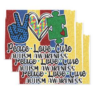 """Autism 19"""" x 29"""" Wrapping paper sheets"""