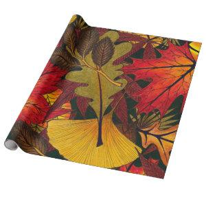 Autumn / Fall Leaves - Wrapping Paper for Gifts