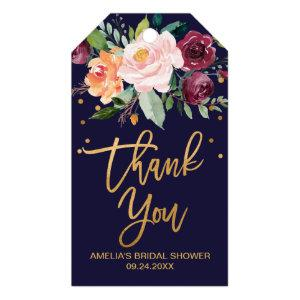 Autumn Floral Thank You Favor Gift Tags