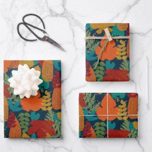 Autumn Leaves Wrapping Paper Sheets