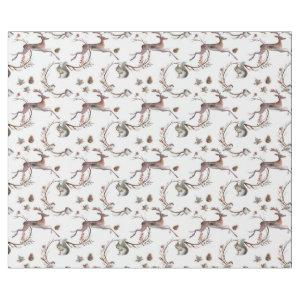 Autumn Winter Woodland Deer Gift Wrapping Paper
