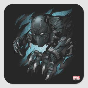 Avengers Classics | Black Panther Tearing Through Square Sticker