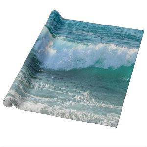 Awesome Wave sea shore nautical ocean nature Wrapping Paper