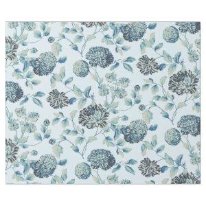 Baby Blue Tansy Modern Vintage Floral Toile Wrapping Paper
