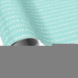 BABY & CO Baby Love Teal Blue Tiara Shower Party Wrapping Paper