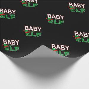 Baby Elf | Team Elf Christmas Holiday Family | Wrapping Paper