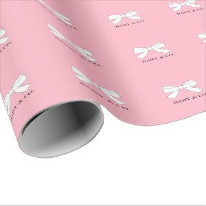 BABY & Family Pink Girl Sprinkle Shower Party Wrapping Paper