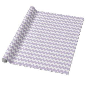 Baby Girl Purple White Zigzag Chevrons Wrapping Paper