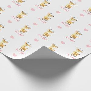Baby Girl Wrapping Paper Pink Deer (It's A Girl)