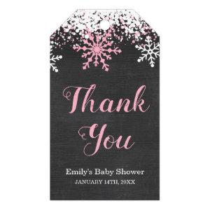 Baby Its Cold Outside Snow Winter Girl Baby Shower Gift Tags