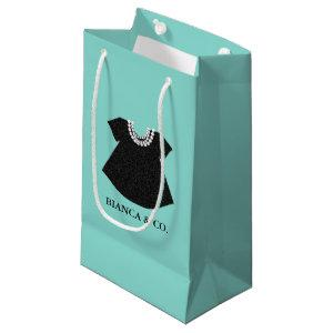 BABY Little Black Dress Sprinkle Tiara Party Small Gift Bag