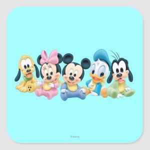 Baby Mickey & Friends Square Sticker