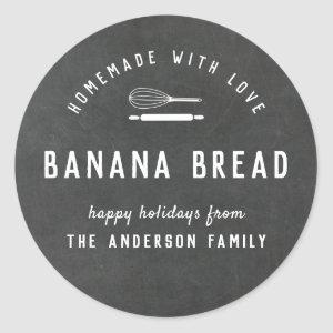 Bakery Logo Holiday Baking Gift Chalkboard Classic Round Sticker
