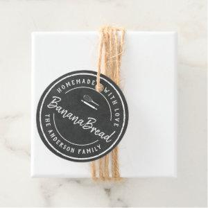 Bakery Logo Homemade Baking Gift Chalkboard Favor Tags
