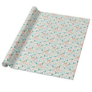 Bambi and Woodland Friends Pattern Wrapping Paper